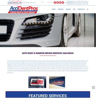 Car Repair Company website(http://www.myaccidentpros.com/)