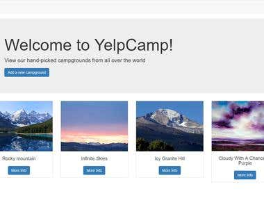 YelpCamp - A web application blog to showcase campsites.