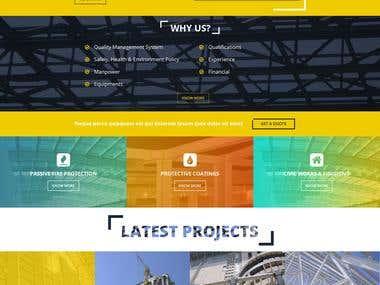 Contracting website design and development.