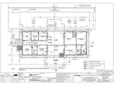 Architectural plan elevation and section .....