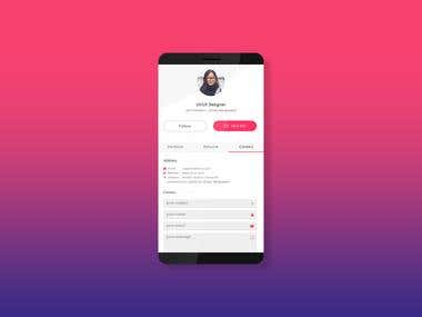 Freelancer Profile App Design