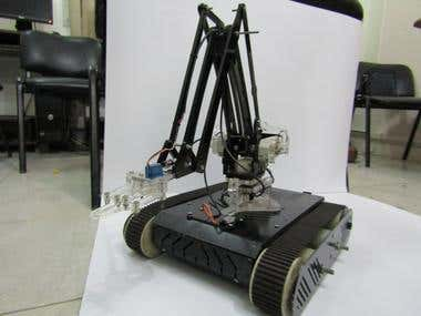 Tracked Robot arm