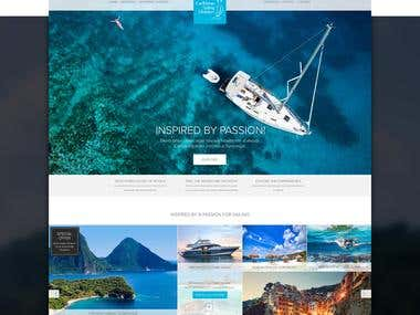 Website mockup for Sailing Holidays