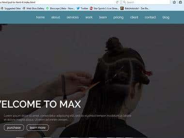 web design with slider screenshot