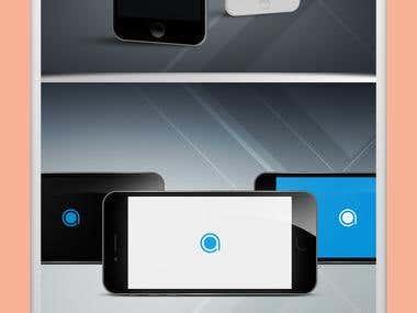iPhone UX Mockup Design