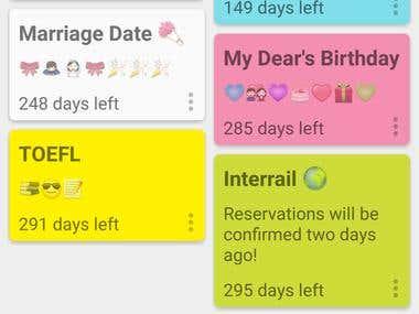 Android Days Until - Countdown Widget App