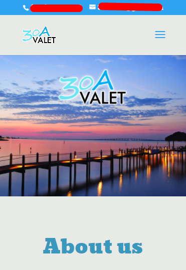 Website for Valet Service Provider