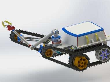 Bomb Robot design by Solidworks2016