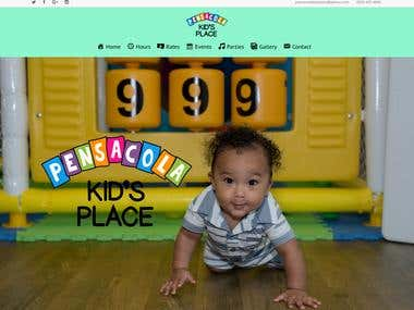 Website for Kid`s Place in Pensacola
