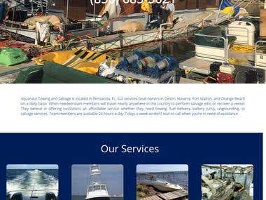 Website for Marine service provider