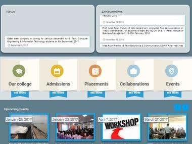 Academic Institute Website