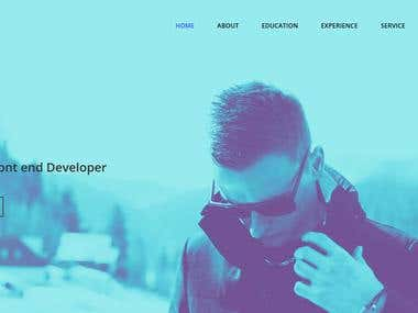 Resume or Portfolio HTML Website