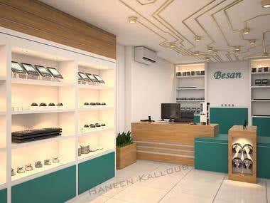 Electronics shop interior design
