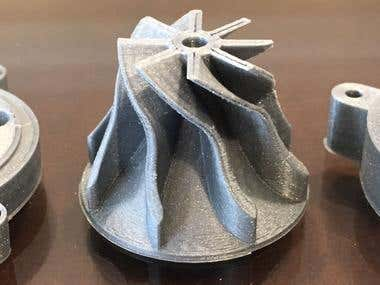 3D printed mini turbine