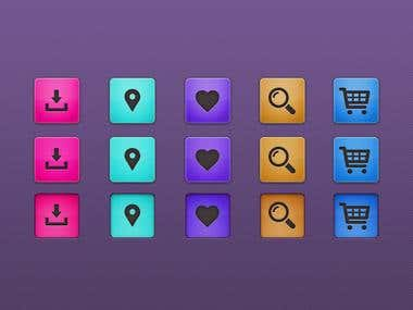 Icon set for online shop