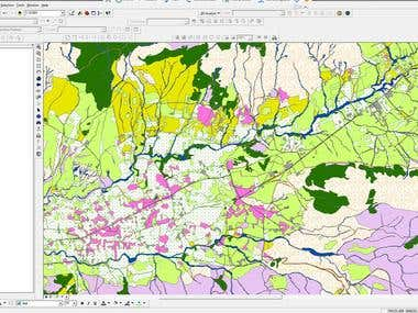 Database in ArcGIS for land using