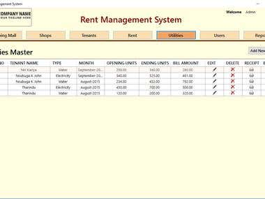 Rent Management Ssytem