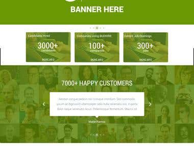 Sample WEB DESIGN (Design mockup only)