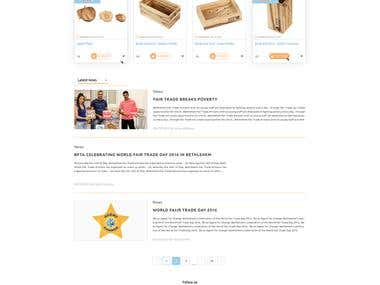 Web design online shop
