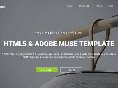 Adobe Muse Website