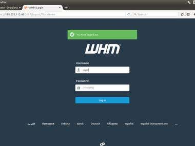 cPanel web based hosting control panel