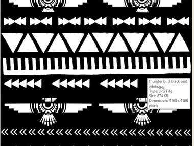 Pattern design of Native American