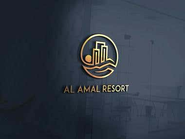 logo design for Al Amal Resort
