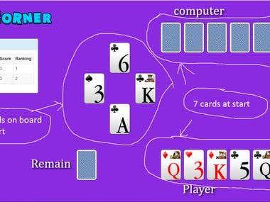 HTML5 Kingscorner Card game