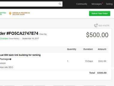 Online Marketplace Earning