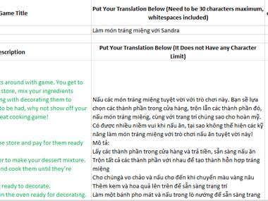 Apps translation