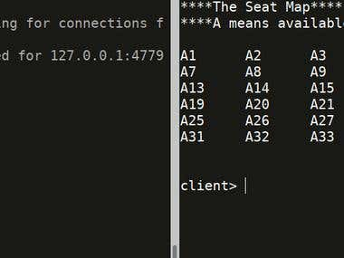 Air Reservation Server and Client over sockets with Python