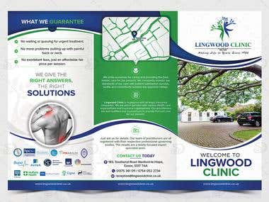 Tri Fold Brochure Design for LingWood Clinic