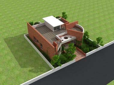 Single Residence design 3d model