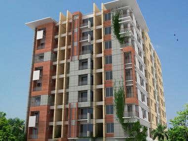 4 unite Residence 3d model