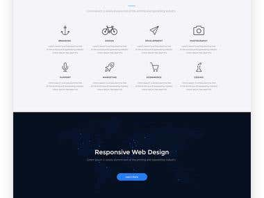 Nagorno website design and development