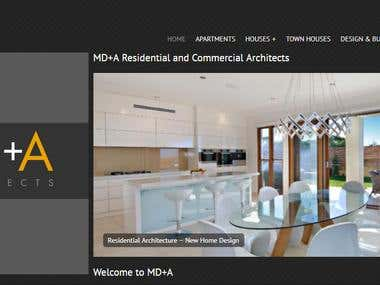 WordPress Website: MD+A Residential and Commercial Architect