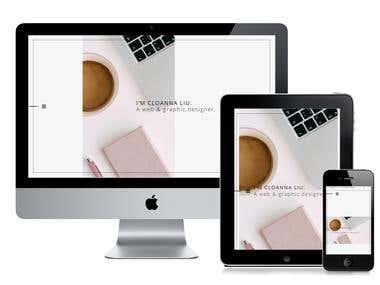 CloannaLiu : Portfolio website