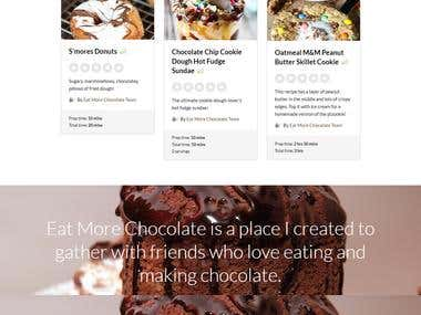 WooCommerce Website: Chocolate Recipes