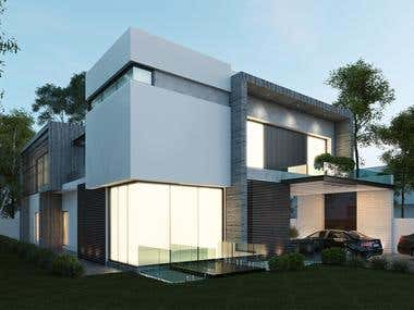 500sq yd House elevation design