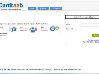 Cardtaab - Social Networking