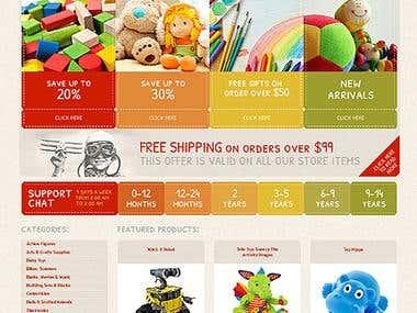 Online Shop / Toys Store