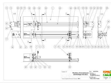 Automatic winding machine of alloy on mecha