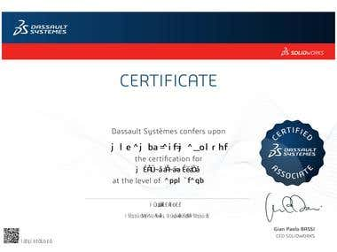 Certified Associate - Mechanical Design (CSWA)