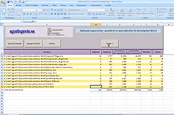 Development of macros and tools in Microsoft Excel and Word