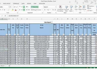 Conversion of Raw data to structured Report - VBA