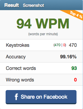 My Typing Speed and Accuracy