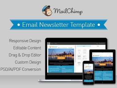 HTML Email Newsletter Template Design