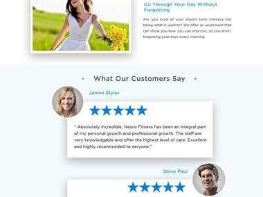 Home Page For Spa/Health Clinic