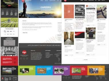 Website template create for FLH North America