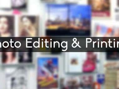 Photo Editing and Printing
